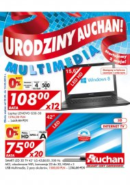 Gazetka Auchan Multimedia elektronika promocje od 2 do 13 maja 2015