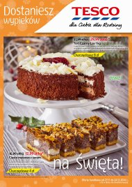 Ciasta w Tesco, oferta wa�na od 2014.11.27 do 2014.12.24