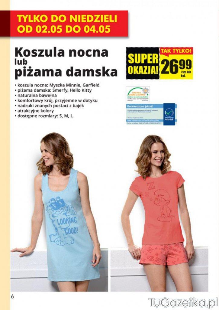 895974ae4a50f0 Koszula nocna z bawełny Biedronka, Moda, odzież - tuGAZETKA.pl