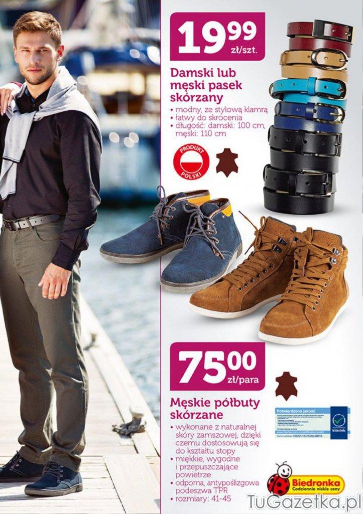 buty skórzane męskie w biedronce