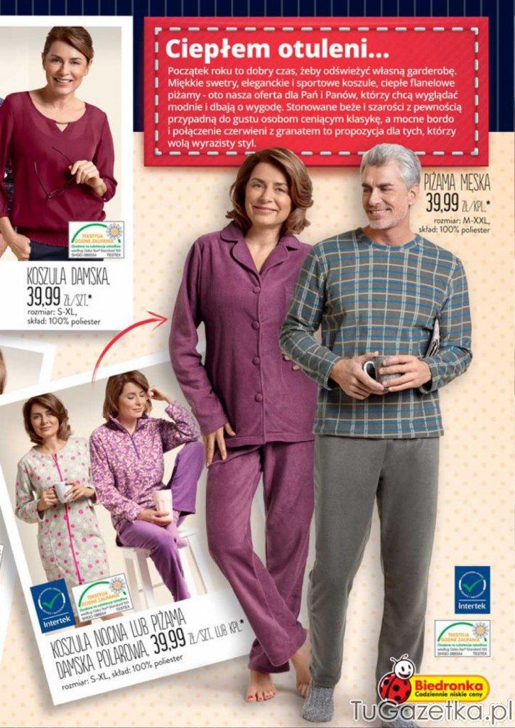55148a4c0140cb Piżamy, koszula nocna Biedronka, Moda, odzież - tuGAZETKA.pl