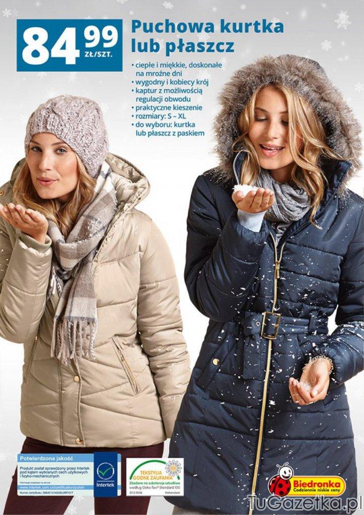 kurtki zimowe damskie biedronka