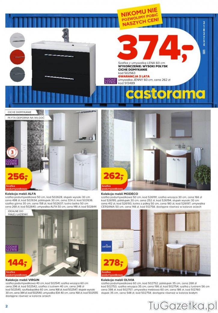Meble łazienkowe Castorama łazienka Tugazetkapl