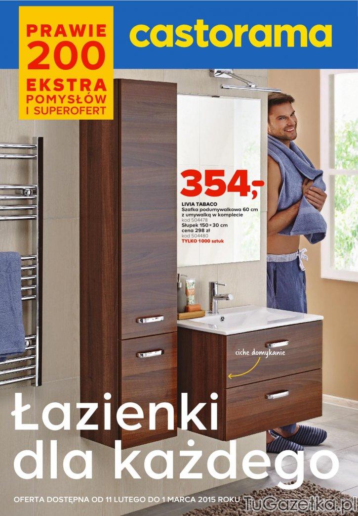 Szafka Podumywalkowa Castorama łazienka Tugazetkapl