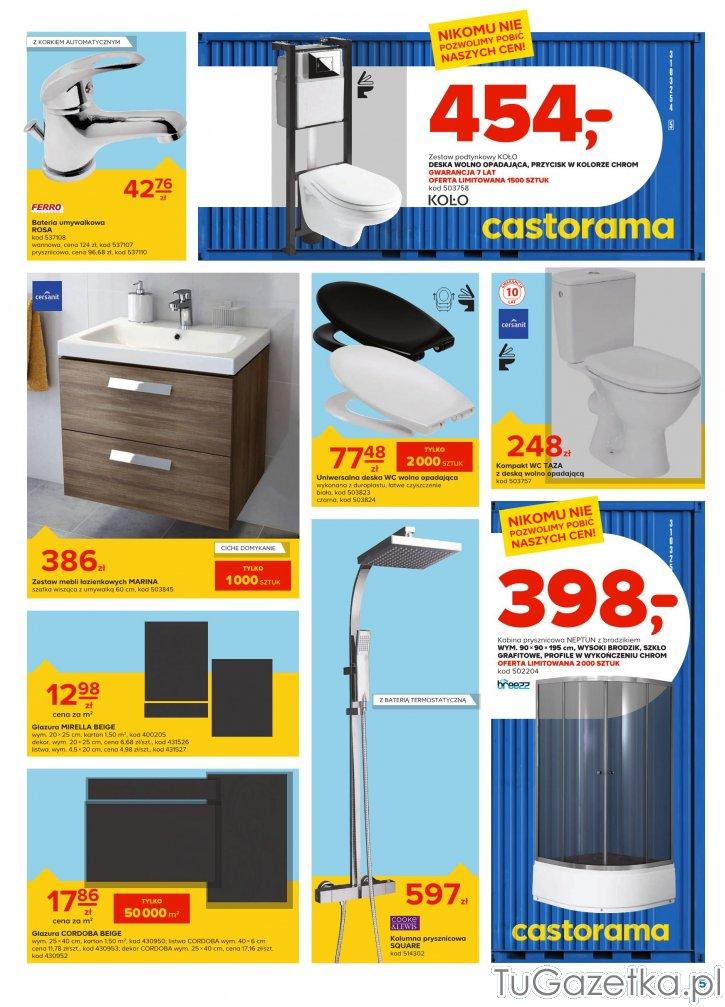 Umywalka Szafka Wc Wyposażenie łazienki Castorama Wystrój