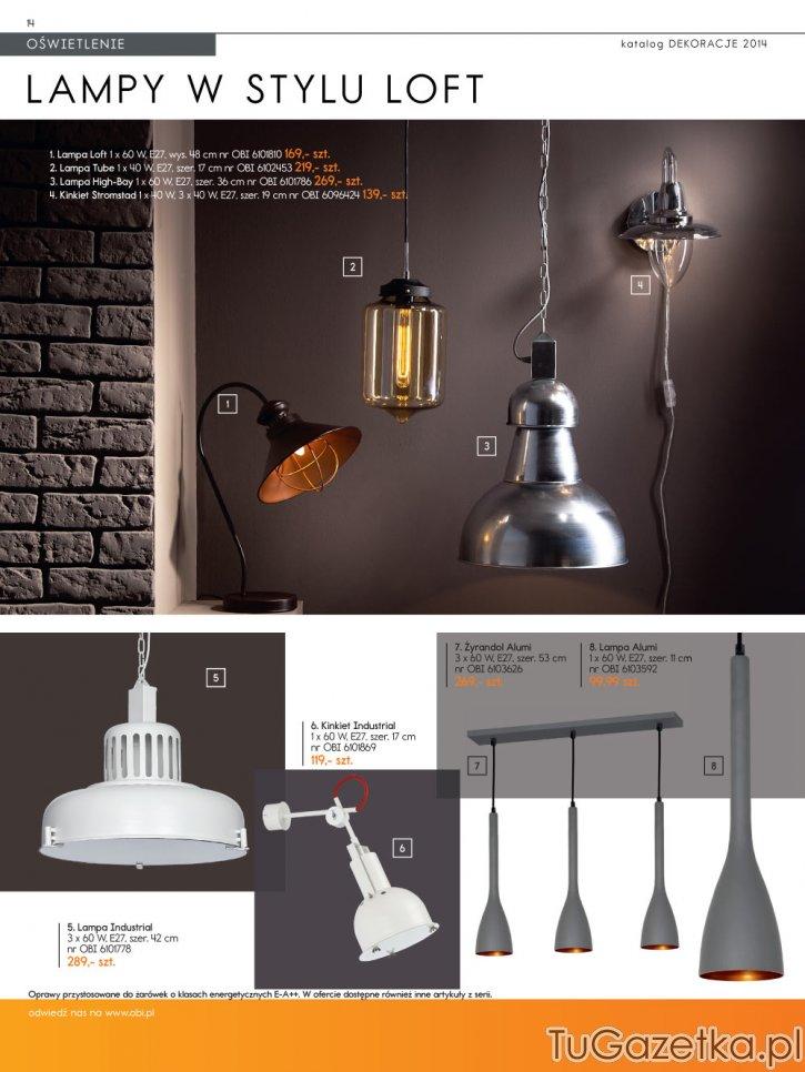 Lampy W Stylu Loft Obi Wystrój Wnętrz Wyposażenie Domu