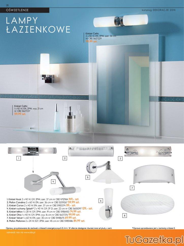 Oświetlenie Do łazienki Obi Wystrój Wnętrz Wyposażenie