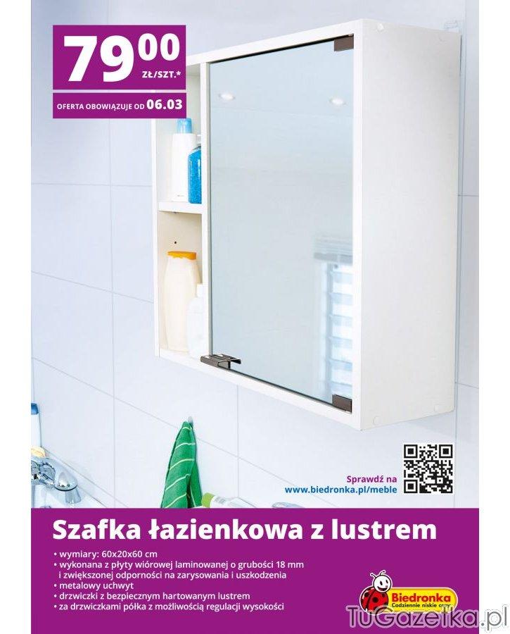 Szafka łazienkowa Biedronka Wystrój Wnętrz Wyposażenie
