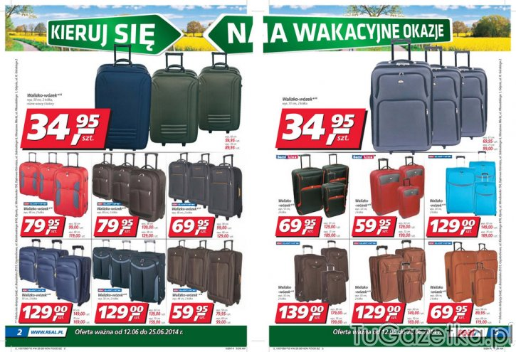 6cd4b79d40bcf Real walizki na kółkach Real, Sport i rekreacja - tuGAZETKA.pl