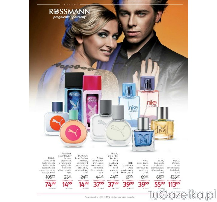 Perfumy i wody Playboy Rossmann, Kosmetyki tuGAZETKA.pl