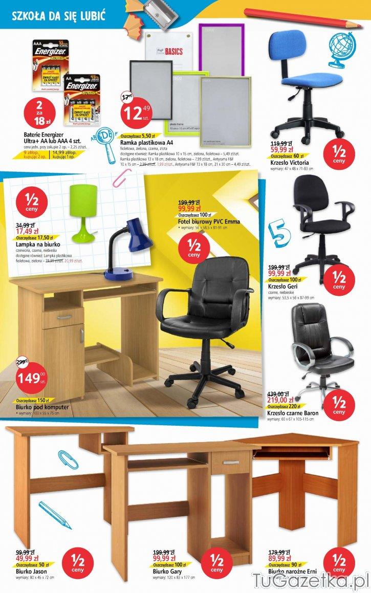 Fotel biurowy PVC Emma Tesco, Artykuły biurowe, papiernicze
