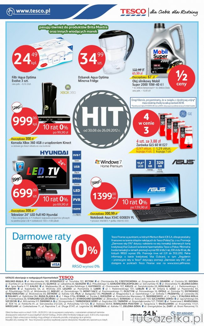Produkt z Gazetka Tesco promocje od 2012.09.13 do 2012.09.26 super ...