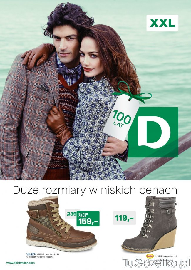 8f165d31 Gazetka Deichmann kolekcja obuwia jesień zima 2013-2014, buty w rozmiarach  XXL - tuGAZETKA.pl