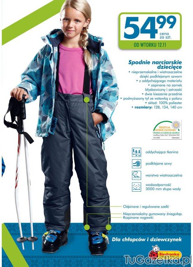 spodnie narciarskie roxy dla dzieci