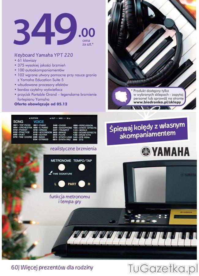 keyboard yamaha biedronka instrumenty muzyczne tworzenie. Black Bedroom Furniture Sets. Home Design Ideas