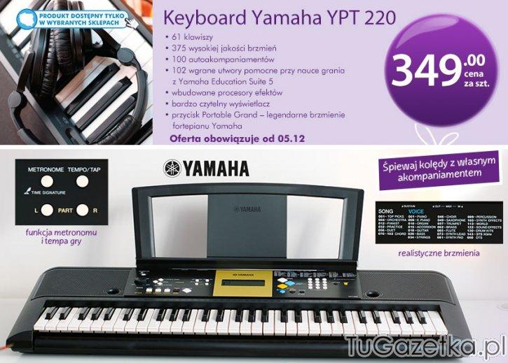 keyboard yamaha klawisze biedronka instrumenty muzyczne. Black Bedroom Furniture Sets. Home Design Ideas