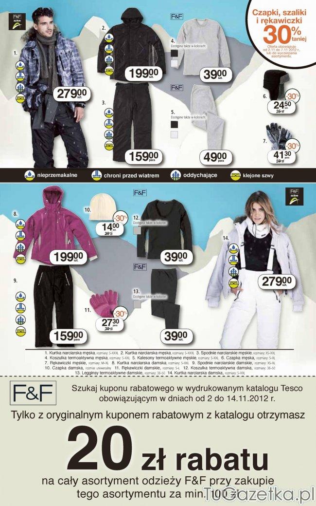 a32336426c Promocje na odzież F F kupon rabatowy Tesco