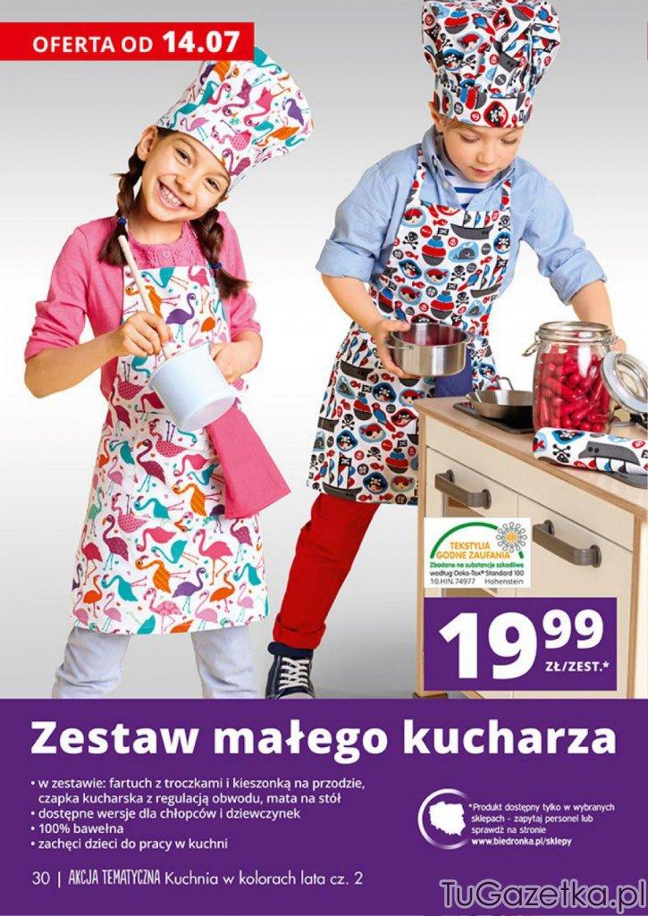 Czapka kucharska dla dzieci Biedronka, Kuchnia  tuGAZETKA pl