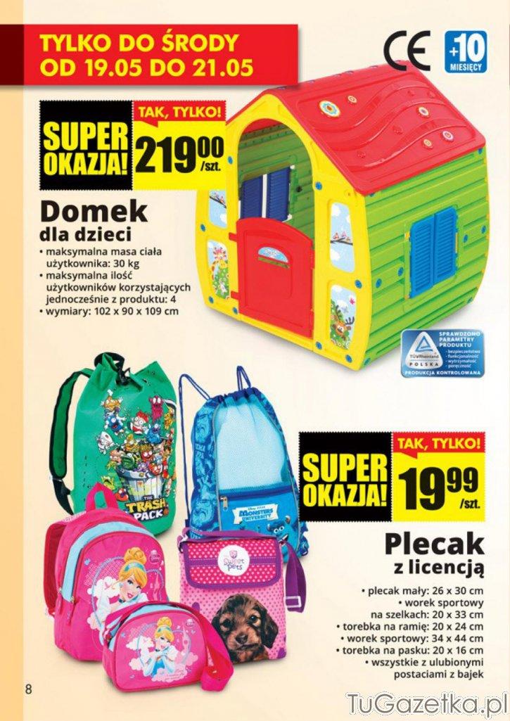 Domek dla dzieci plecak Biedronka, Dla dzieci  tuGAZETKApl