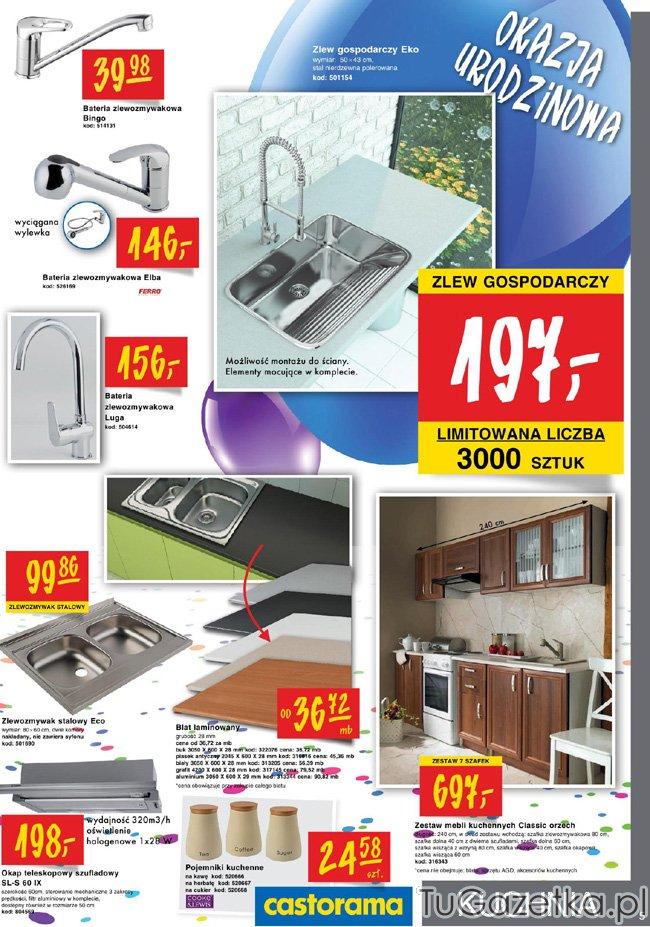 Kuchnia i łazienka bateria zlew gospodarczy Castorama   -> Kuchnie Castorama Cena