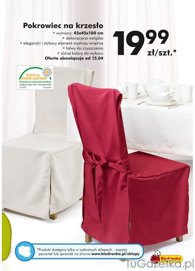 Pokrowiec Na Krzesło Biedronka Wystrój Wnętrz Wyposażenie