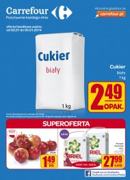 Gazetka Carrefour 2014.01.02 do 2014.01.05